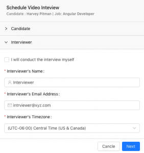 schedule online video interview