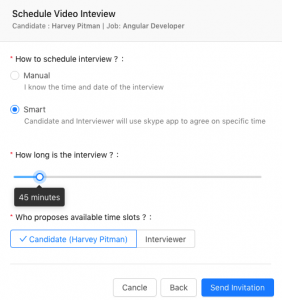 smart schedule video interview